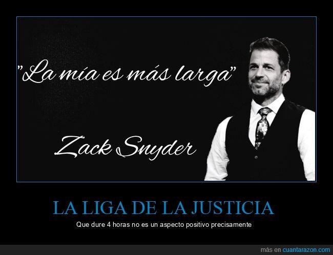 la liga de la justicia,larga,zack snyder