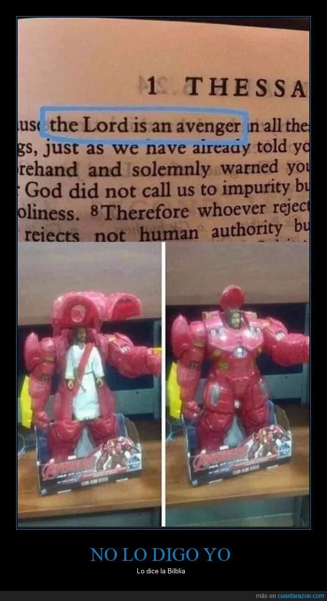 biblia,dios,los vengadores,vengador