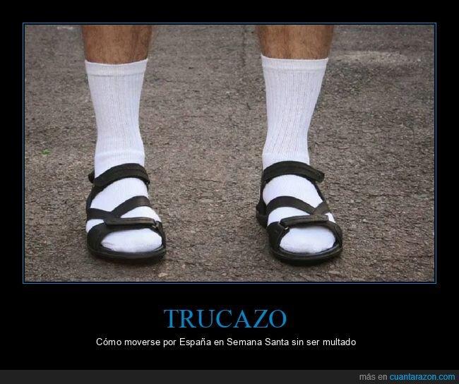calcetines,españa,restricciones,sandalias