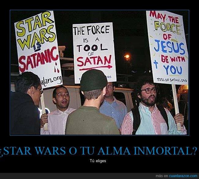 cristianos,star wars,wtf