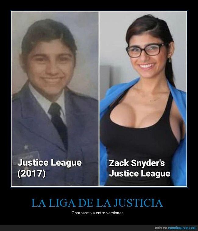 la liga de la justicia,mia khalifa,zack snyder