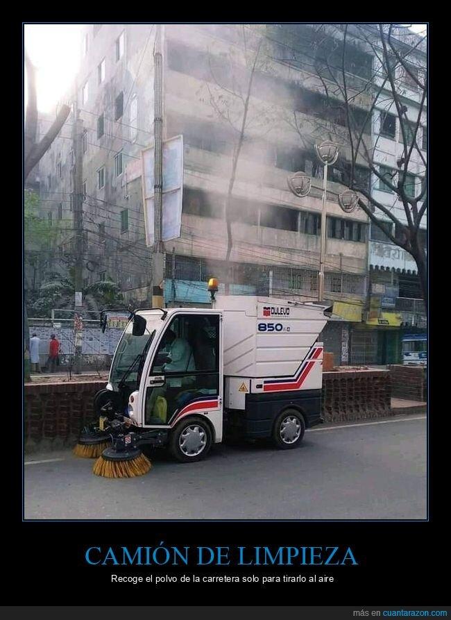 camión,fails,limpieza,polvo