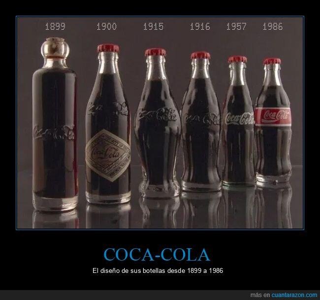 botellas,cocacola,épocas