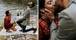 Enlace a Esta pareja se propuso matrimonio mutuamente de forma accidental durante una sesión de fotos