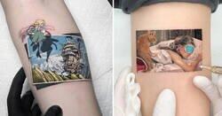 Enlace a Tatuajes del artista que te permite llevar tu cómic o película favoritos sobre la piel