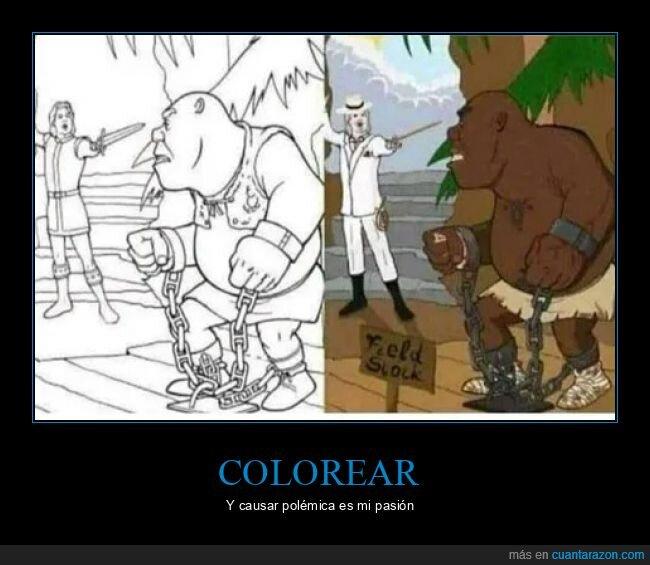 colorear,esclavo,shreck