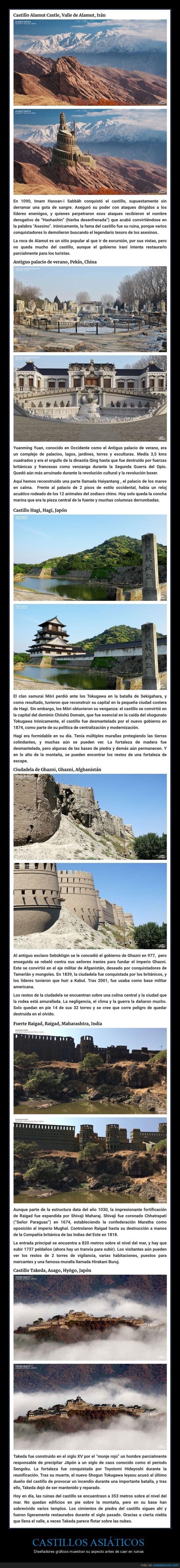 castillos asiáticos,ruinas