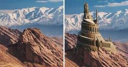 Enlace a Estos diseñadores gráficos muestran el aspecto de 6 castillos asiáticos antes de caer en ruinas