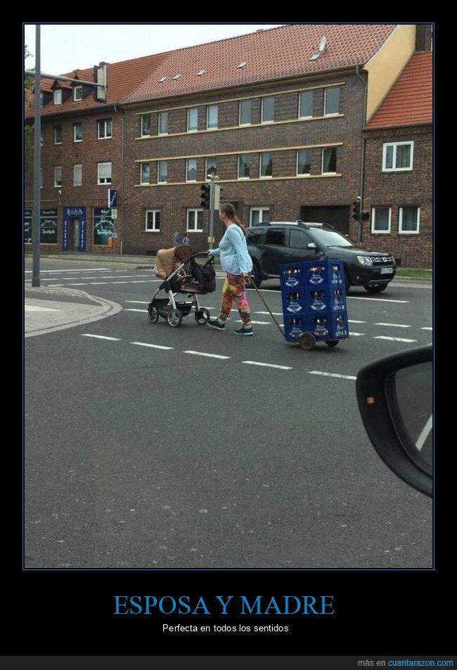 bebé,carrito,cerveza