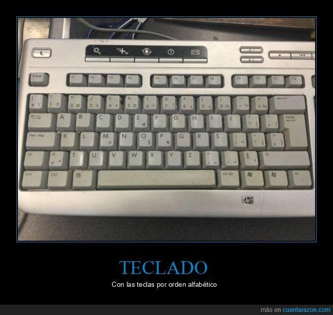 orden alfabético,teclador,teclas