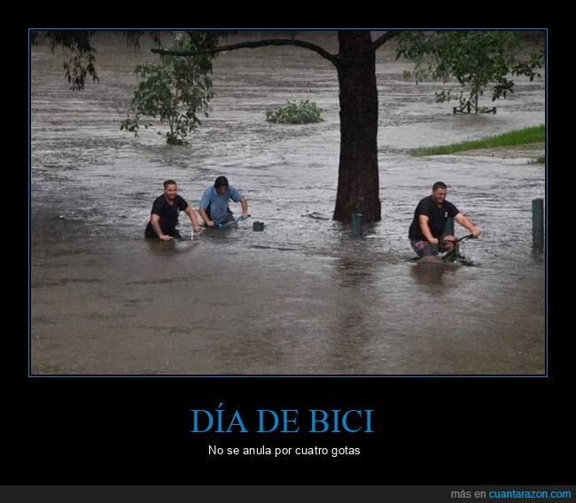 bicicletas,inundación
