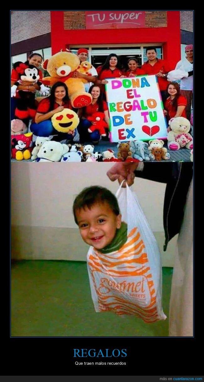 bolsa,donar,ex,niño,regalo