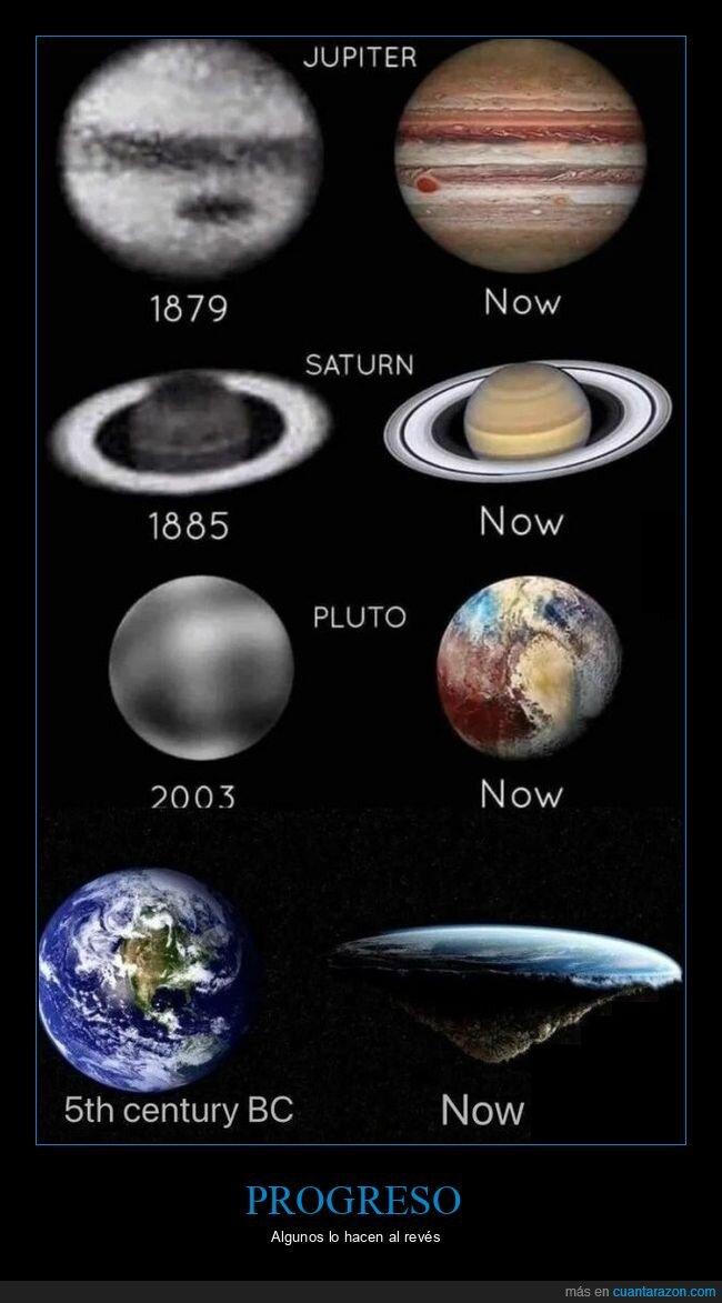 planetas,terraplanistas