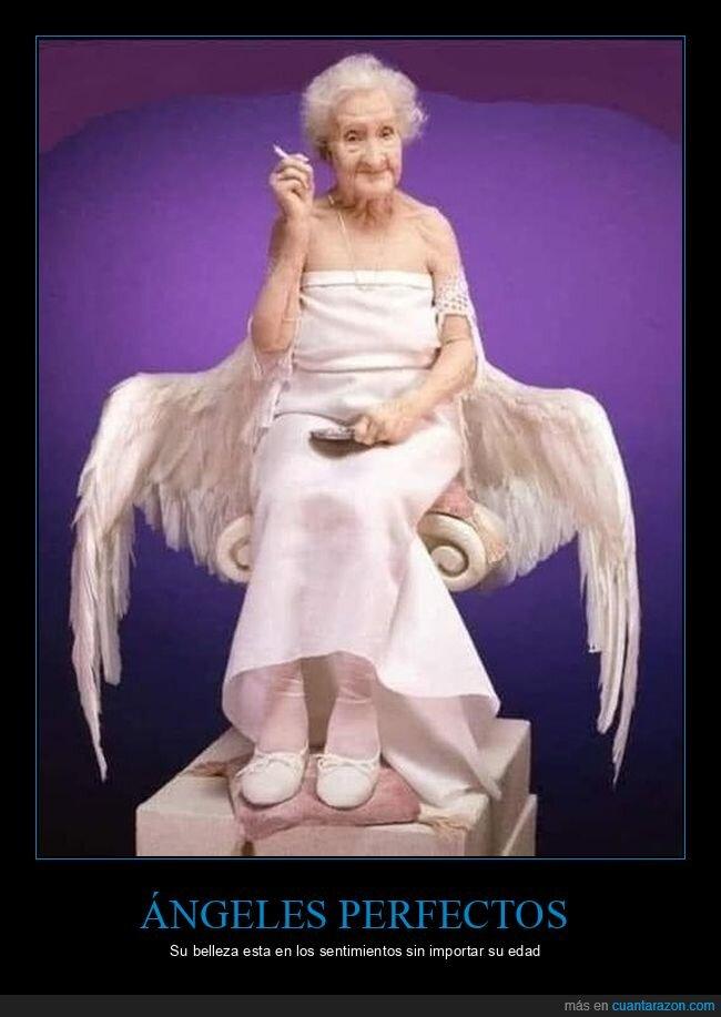 anciana,angeles,belleza