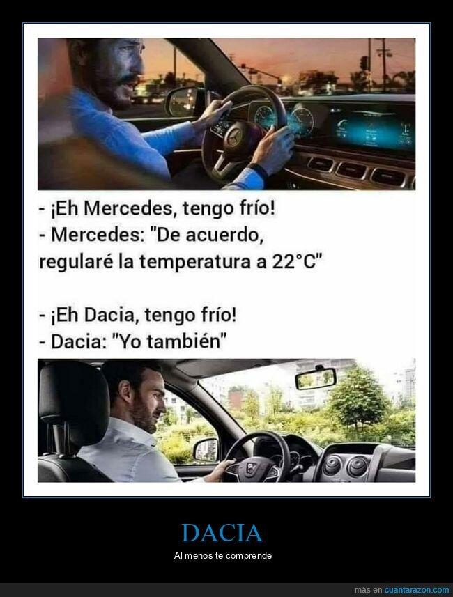 coches,dacia,frío,mercedes