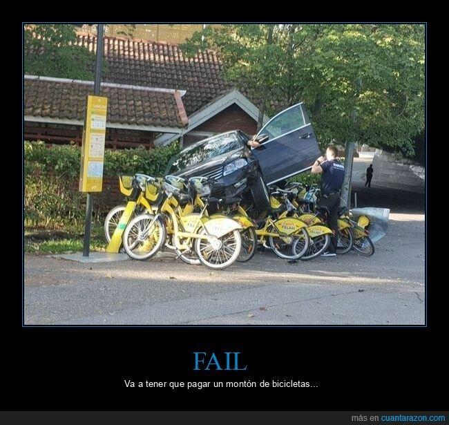 bicicletas,coche,fails