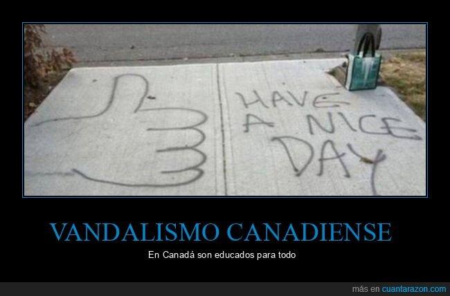 canadiense,pintada,vandalismo