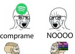 Enlace a Spotify VS WinRAR