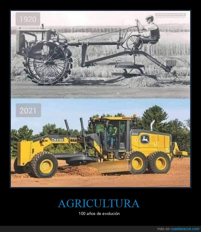 agricultura,ahora,antes,maquinaria