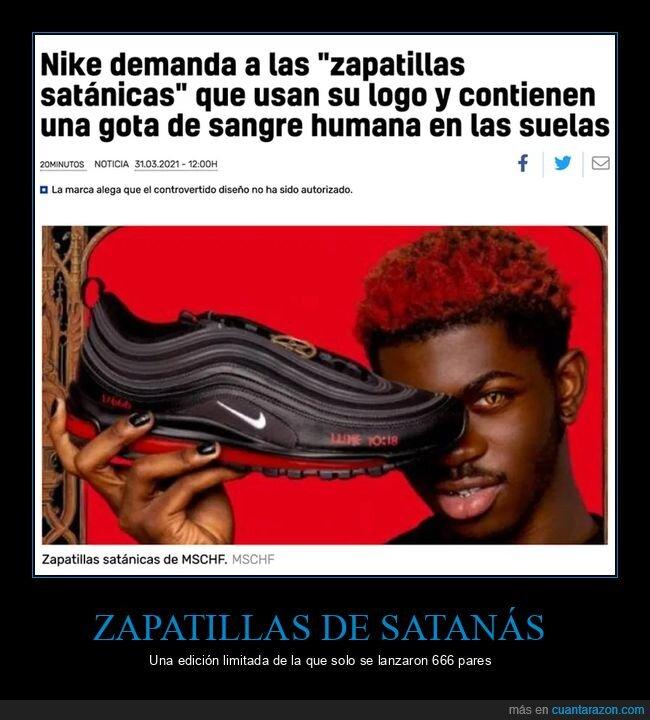 demanda,nike,sangre,satánicas,zapatillas