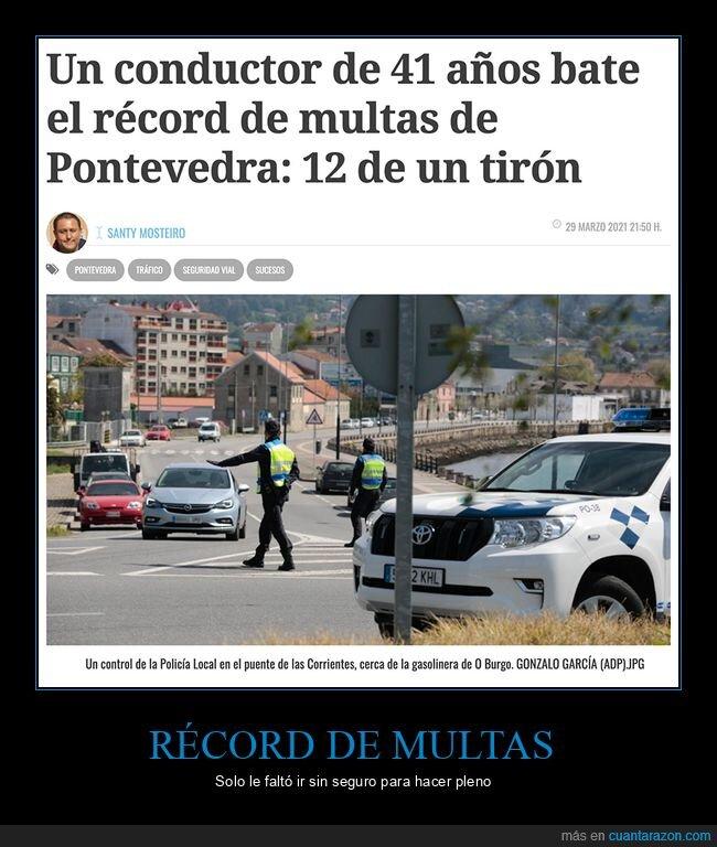 conductor,multas,récord