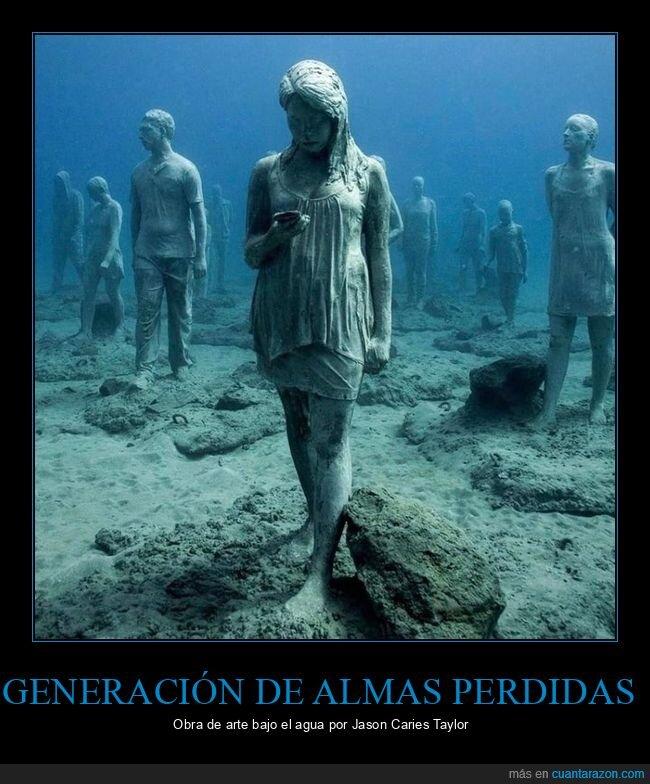 almas perdidas,arte,bajo el agua,esculturas