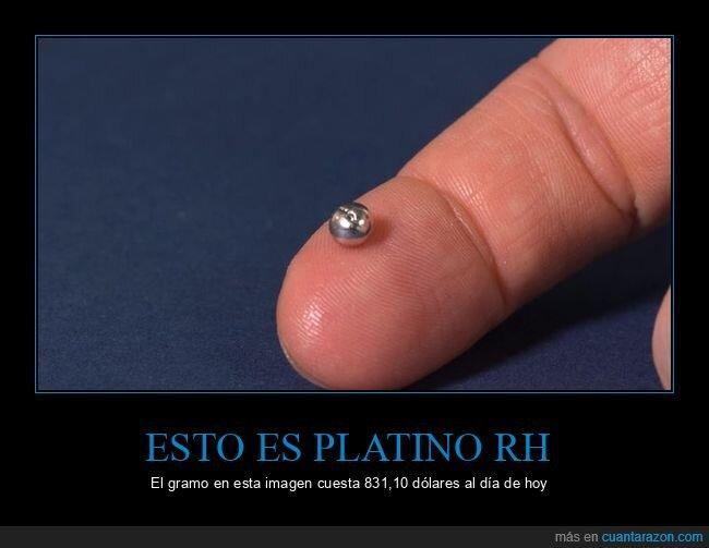 metal precioso,platino rh,precio
