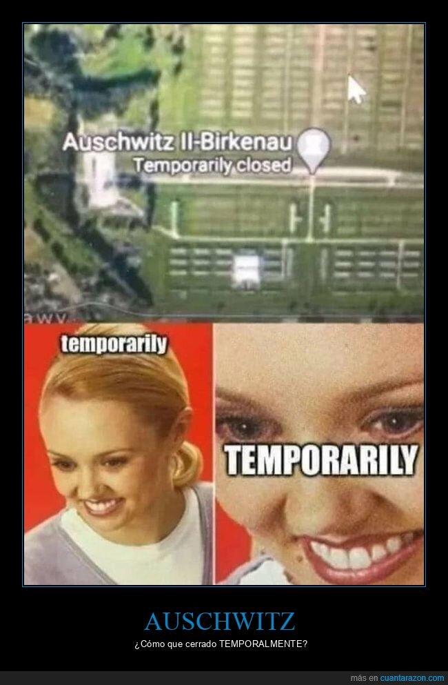auschwitz,cerrado,temporalmente,wtf