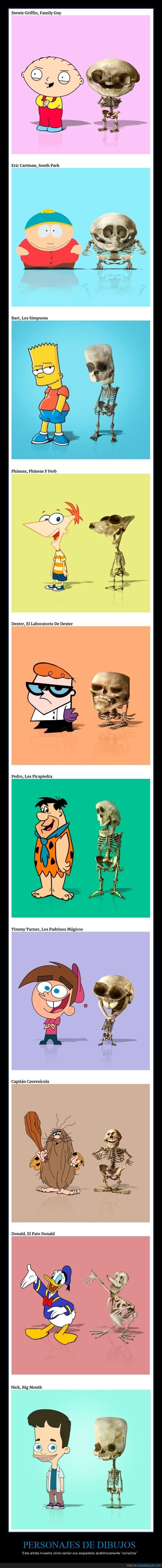 esqueletos,personajes
