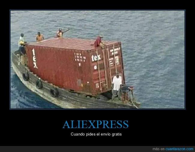 aliexpress,barco,contenedor,envío gratis