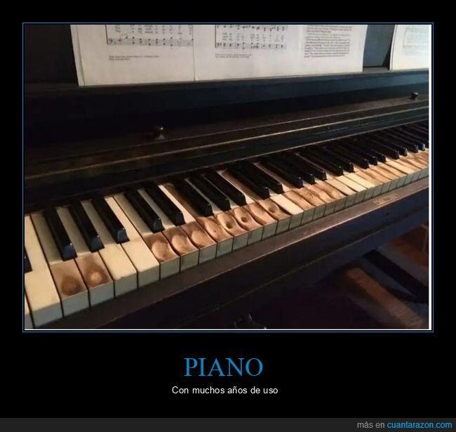 desgaste,piano,teclas,uso