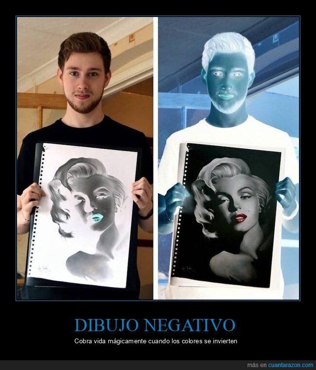colores,dibujo negativo,invertir