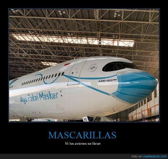 avión,mascarilla,wtf