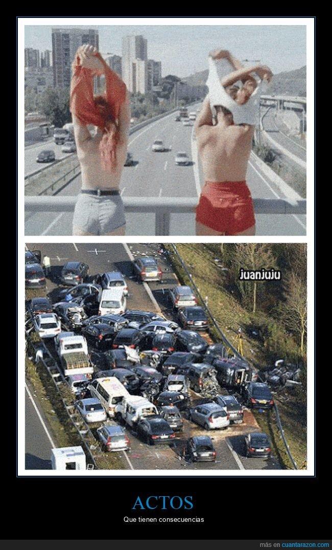 accidente,carretera,coches,puente