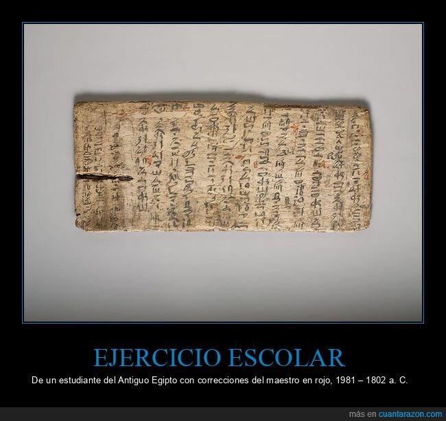 correcciones,egipto,ejercicio,escolar,profesor