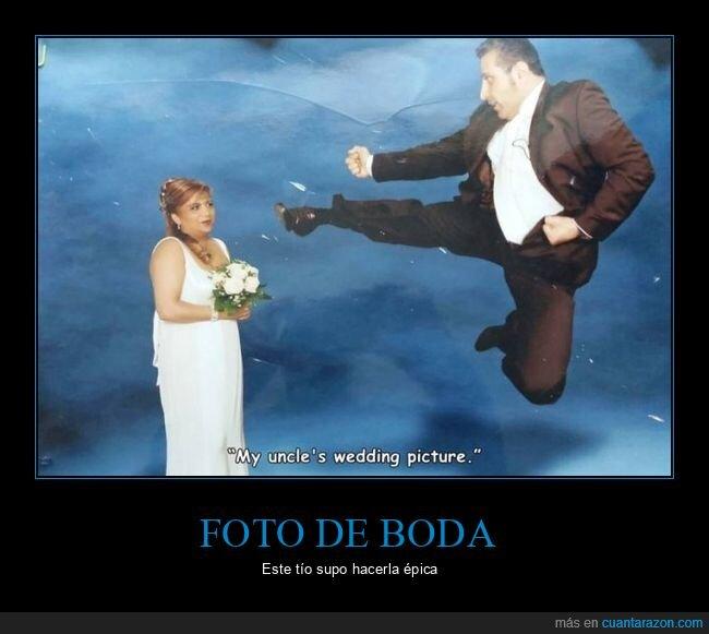 foto de boda,patada,wtf