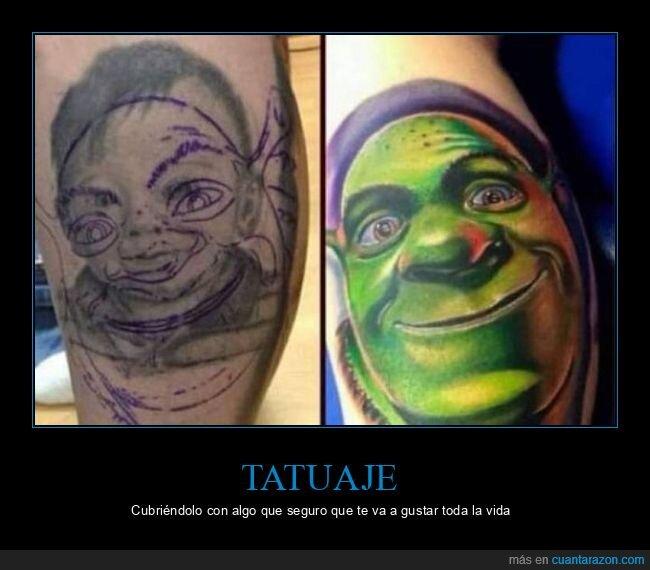 niño,shrek,tatuaje