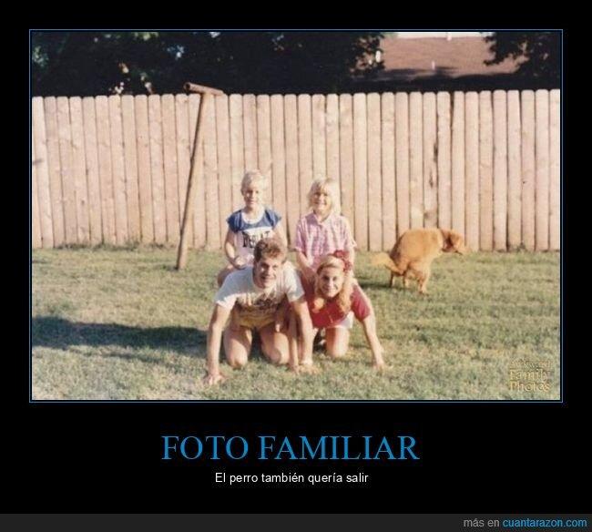familia,fotophotobomb,perro
