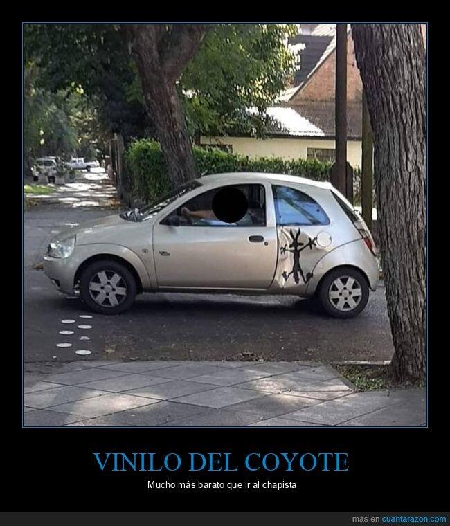 coche,coyote,vinilo
