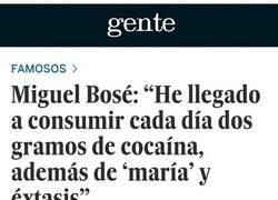Enlace a Tremendo el doble rasero de Miguel Bosé