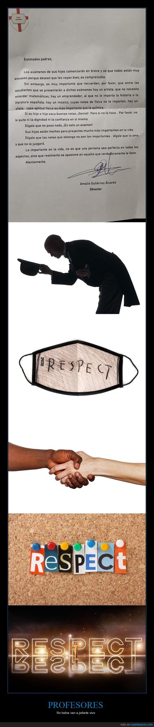 carta,examenes,profesor,respect