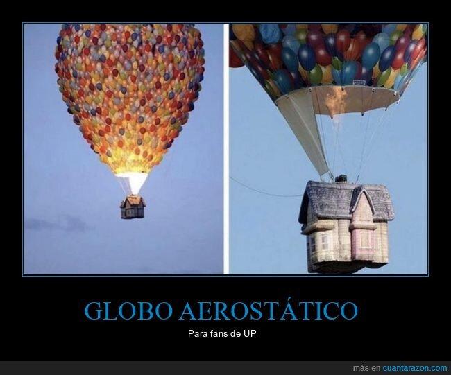casa,globo aerostático,up