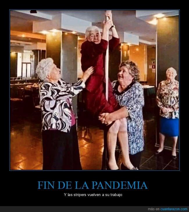 ancianos,falta mucho,pandemia,pole dance