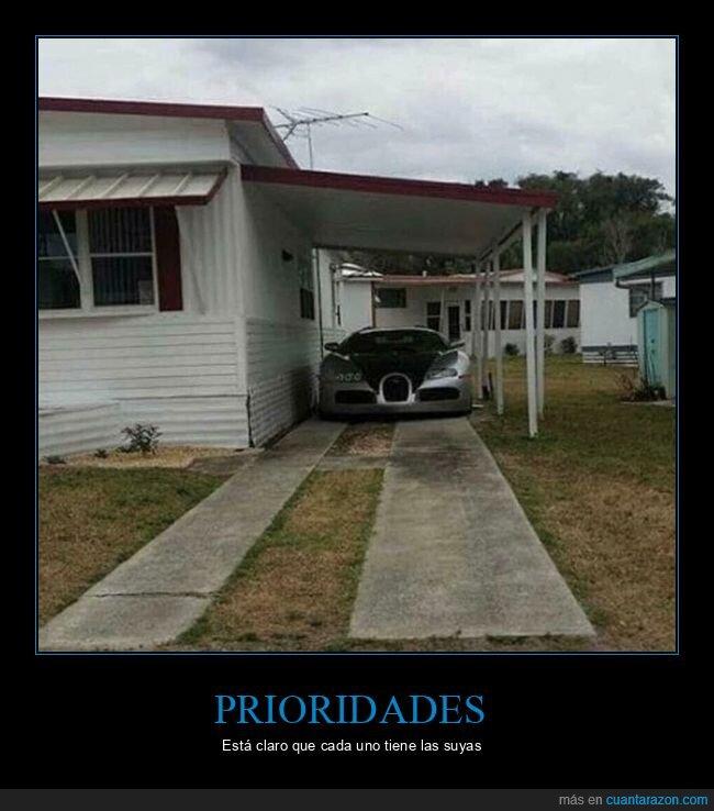 Bugatti,casa,chabola,coche