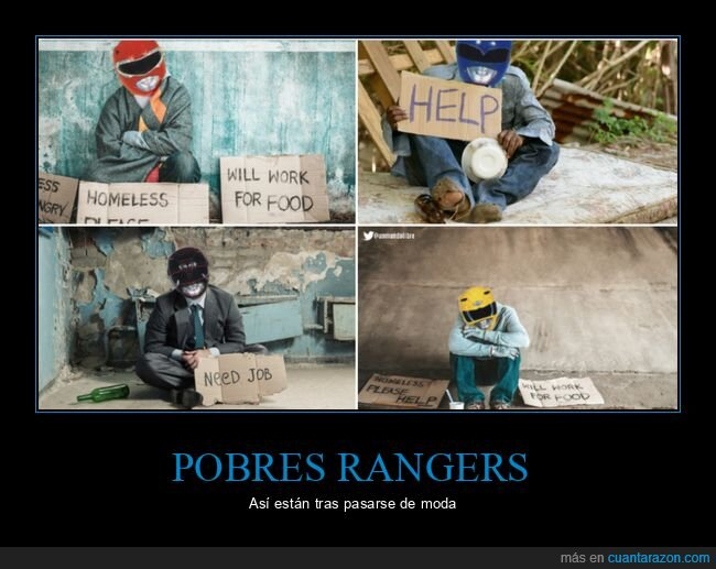 pedir,pobres,power rangers