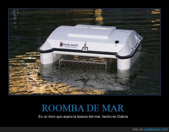 basura,contaminación,dron,mar,roomba