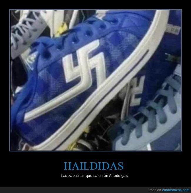 esvásticas,nazi,zapatillas
