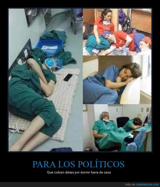 durmiendo,médicos,sanitarios