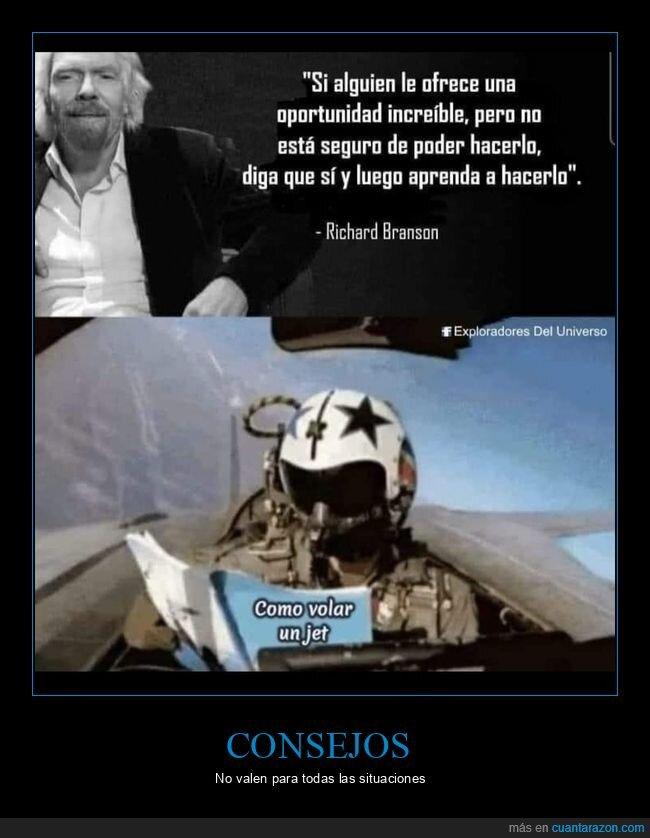 aprender,avión,jet,oportunidad,richard branson