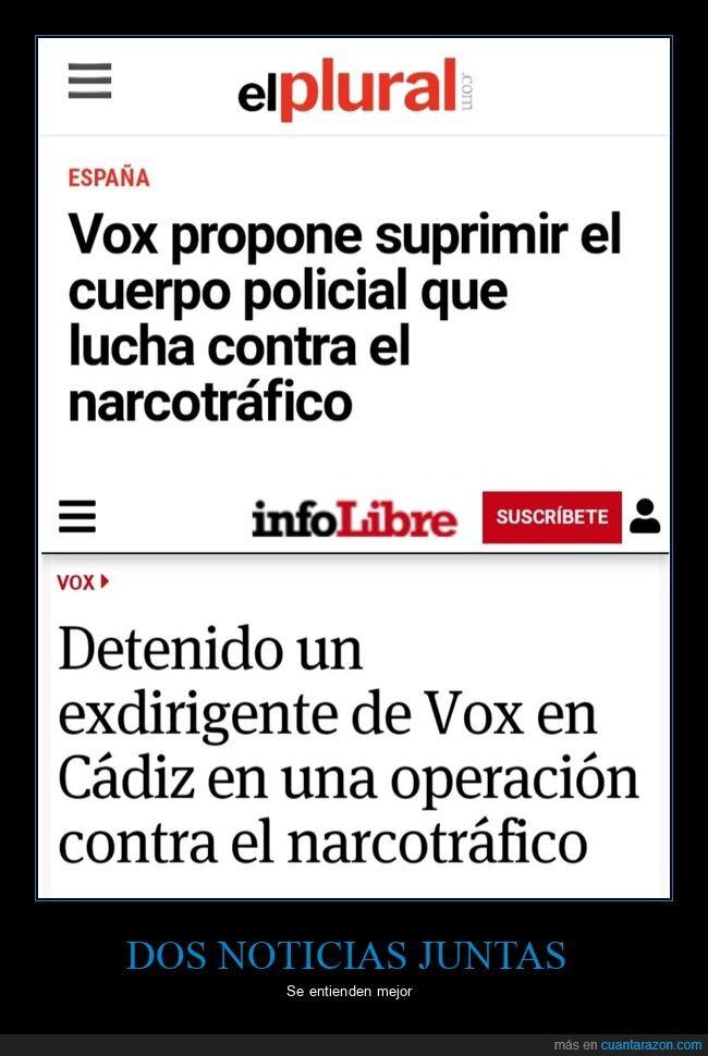 narcotráfico,políticos,vox